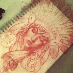 Very Cool Red Pencil Sketch