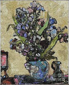 Irises A Replica Of Van Gogh