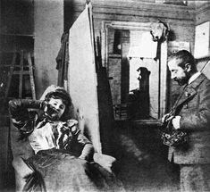 Edouard Vuillard: Henri De Toulouse-Lautrec in his Studio with Misia Natanson, 1895
