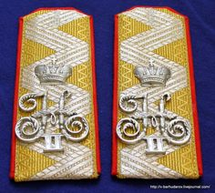 Imperial Russia Military Shoulder Straps General by ingryda123
