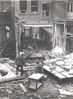 The People's Pantry: Towards the end of 1942 and the beginning of 1943, German air raids on Britain intensified. On 10 February 1943, four bombs were dropped on Reading town centre. The Town Hall on Blagrave Street was badly damaged as were businesses on Minster Street. 41 people were killed, mostly customers at the People's Pantry in Market Arcade. Fortunately half day closing meant that the number of civilian casualties was much lower than it could have been.