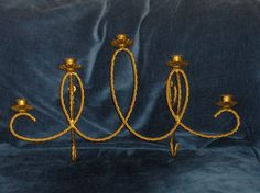 Wall Sconce Homco Brass Holds 5 Voltives