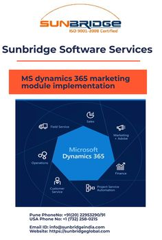 The Microsoft Dynamics AX 365 is a complete ERP system, with an integrated CRM system. Sunbridge is one of the most reliable Microsoft dynamics AX 365 partners in Iowa s. We have helped several organizations to implement a system that manages all their processes including finance, warehousing, trade & logistics, accounting, production, master planning, HR and CRM at one place. MS Dynamics AX 365 is a cloud-based application which is easy to implement and use as well. Crm System, Microsoft Dynamics, Cloud Based, Pune, Good Company, Iowa, Customer Service, Illinois, Improve Yourself