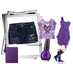 """Purple teen dream""  by terresekopp on Polyvore"