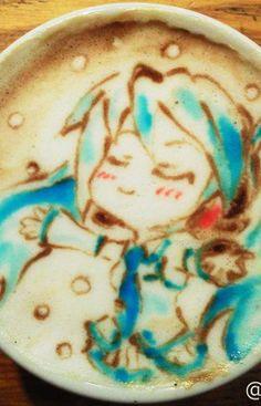Latte Art Coffee Latte Art, I Love Coffee, Anime Coffee, Cute Bento Boxes, Cup Art, Chocolate, Snack, Creative Food, Food Art