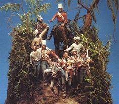 24th Foot Sikh Wars- a diorama by Bill Horan. Almost certainly depicting the aftermath of Chillianwallah. When the 24th attacking through scrubby jungle suffered 518 casualties of which 255 were killed