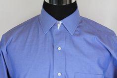 BROOKS BROTHERS Slim Fit Mens Non-Iron Blue Dress Shirt Sz 17-36 #BrooksBrothers