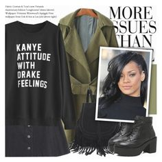 Kanye or Drake? by novalikarida on Polyvore featuring polyvore fashion style Wassup clothing gearbest
