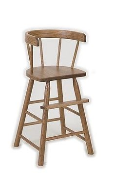 #Amish Handmade Oak #toddler Booster High Chair Heirloom Quality Child # Furniture, View