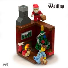 """1/52 - Waiting for Christmas.   I was looking through all of my LEGO builds from 2013 and I realized that I only made twelve.  Just twelve?... I still think 2013 was a good quality building year for me, but overall I was lacking some inspiration (and time) on the quantity side of the equation.  To remedy this for 2014, I'm starting what I'm calling an """"8x8x52"""" project.  My goal is to build at least one 8x8 base vignette per week, for a consecutive 52 weeks.  This is build 1 of 52."""