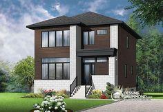 ORIGINALE, MODERNE & ÉLÉGANTE  Plan de maison moderne, 3 chambres, grand vestibule, salle de lavage au rez-de chaussé  http://www.dessinsdrummond.com/detail-plan-de-maison/info/collins-2-contemporain-zen-1003161.html