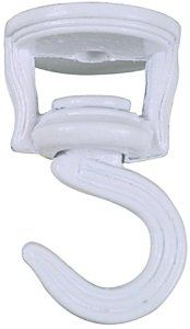 National Hardware V2673 2-Inch Swivel Swag Hook, White by Stanley. $2.49. From the Manufacturer                2-Inch swivel swag hook white                                    Product Description                For planters and decorative items. Rotating hook permits even exposure to the sun. 2 swivel hooks, 2 toggle bolts, and 2 screws per card.