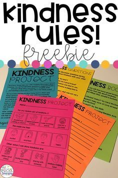 """Inside this freebie you will find printables to send home with your students to work on a """"kindness project"""" with their family. The differentiated worksheets make it possible for ALL students to participate in this activity! Teaching Kindness, Kindness Activities, Bullying Activities, Kindness Elves, Leadership Activities, Counseling Activities, Group Activities, Classroom Behavior, Classroom Management"""