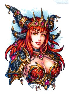 Alexstrasza the Life-Binder, Aspect of the red dragonflight, is the guardian of all life in the world of Azeroth. Lineart, Hi-Res JPG and PSD and . Alexstrasza the Life-Binder Fantasy Art Women, Beautiful Fantasy Art, Dark Fantasy Art, Fantasy Girl, Fantasy Artwork, World Of Warcraft, Art Warcraft, Female Character Design, Character Art
