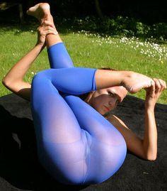 Durchsichtige Yogahosen-Muschi, Fick mich geil nackt gif