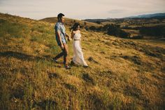 """Woro & Eu Liang.  Our rustic themed engagement photoshoot featured in Hello May. Photographer: Dane Adkins Photography. Make Up: Sparrow Makeup. """"Adventure begins"""" sign: From The Owl."""