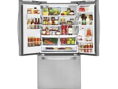 LG - 24.2 Cu. Ft. French Door Refrigerator with Thru-the-Door Ice and Water - Stainless Steel - AlternateView2 Zoom