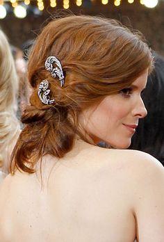 Boho Wedding Hairstyle - Wedding Hairstyle Idea Kate Mara