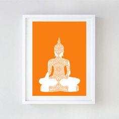 Buddha Art Print Yoga art buddha buddha yoga design by ialbert