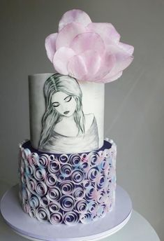 Cake for a young lady by Couture cakes by Olga