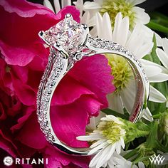 Ritani Princess Cut Diamond Ring- like the sides not the diamond cut