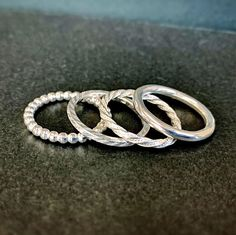 Gorgeous stacker rings made by Fiona in the Intensive Beginners Jewellery Short Course. You can see a progress shot of these in the previous post.