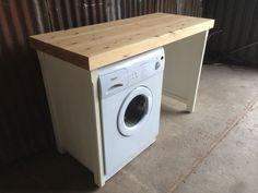Nice rustic wooden solid pine kitchen appliance gap to fit 2 standard appliances such as a washing machine or dishwasher. Hand painted in a durable ivory paint. finished of with a coat of wax. Our kitchens are made from solid pineand sourced from renewable forests. | eBay!