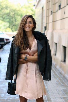 Coohuco con cazadora de piel Senona Shearling de nuestra marca en distribución MbyM España. @coohuco  #mbym #españa #marcas #coohuco #aw16 #look #cazadora