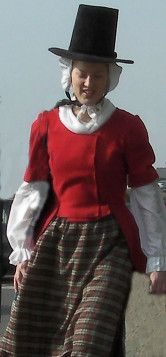 Lady in traditional Welsh national costume