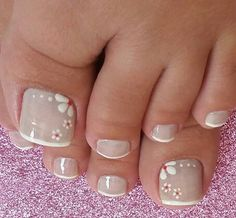 - Best ideas for decoration and makeup - Pretty Toe Nails, Cute Toe Nails, Sexy Nails, Fun Nails, Toe Nail Color, Toe Nail Art, Nail Colors, Toenail Art Designs, Pedicure Designs
