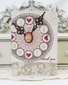 Clock Face Thank You Card by Melissa Phillips for Papertrey Ink (January 2013)