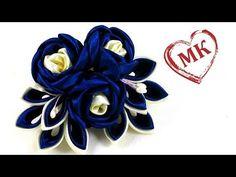 Здравствуйте, друзья!!! Буду рада видеть Вас в своей группе в Контакте http://vk.com/club106303762 Сегодня делаем композицию с пышным цветком, двумя бутонами...