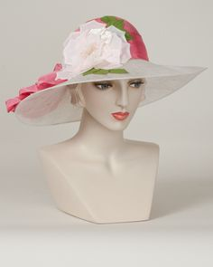 Josephine, hot pink/ivory – Louise Green Millinery