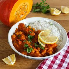 ▷ Cizrna v dýňové kari omáčce - vegetariánský recept Chana Masala, Food And Drink, Ethnic Recipes