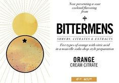 Orange Cream Citrate For years, we've been asked when we were going to start making an orange bitters. Our thought was that there are already so many orange bitters out there that it really didn't ...