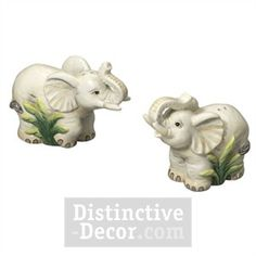 J Willfred Ceramics Elephant S&P