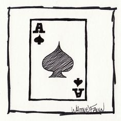 by Whitney Fawn for #30DoC Day 13 - Ace of Spades - @createstuff