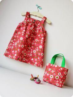 Robe à fleurs par *Tadaam !. Modèle gratuit de la Droguerie pour Marie-Claire Idées 102