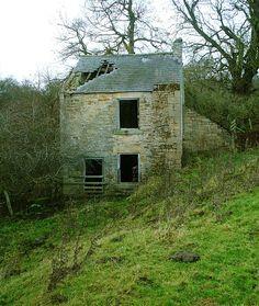 Very spooky abandoned house, County Durham, England.
