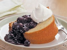 Rich, tender pound cake made with Original Bisquick® mix and sour cream is served with a sweet blueberry sauce and whipped cream - a simple and delectable dessert.