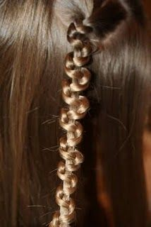Slide up Braid. Very easy. Very fun for just an accent in your hair.