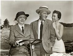 """Ethel Barrymore, Bing Crosby and Jane Wyman in """"Just for You"""" 1953"""