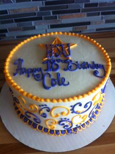 Hardin Simmons Birthday Cake