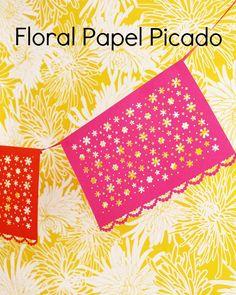Floral Papel Picado  A Classic Mexican Paper Craft 699d4254458