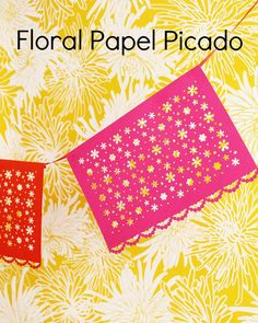 Floral Papel Picado: A Classic Mexican Paper Craft | Martha Stewart Living - This example of traditional Mexican folk art is a must-have party decoration. It looks elaborate, but with a paper-punching tool, this paper craft couldn't be easier! It's perfect for Cinco de Mayo or any other kind of fiesta.