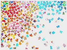 No te rompas la cabeza… cuadro de piezas de puzzles – Babyecochic.com