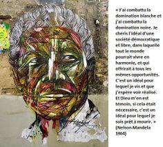 Street Art by Hopare of Nelson Mandela in Paris, France Street Art Utopia, Street Art Banksy, Banksy Art, Murals Street Art, Nelson Mandela, Mandela Art, Best Street Art, Amazing Street Art, L'art Du Portrait