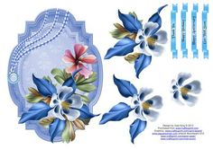 Fleur de la floret decoupage topper on Craftsuprint - Add To Basket!    There are many in this series