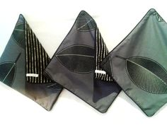 stunning Marimekko fabric in a trio of cushion covers.