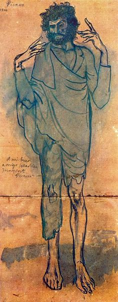 """Le fou"", Drawing by Pablo Picasso (1881-1973, Spain)"